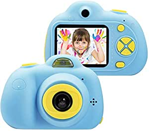 Toyshine Kids Camera 3MP 1080P HD Mini Children Camera with Selfie Timer (Without SD Card) (Blue)
