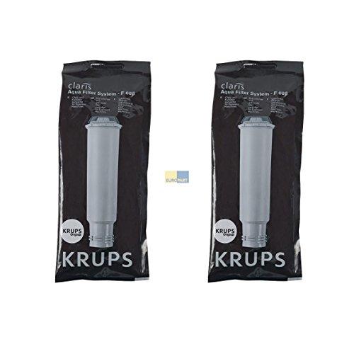 Krups F088 SET 2x ORIGINAL Wasserfilter Chlorfilter Kalkfilter Claris Aqua mit Schraubanschluss z.T....