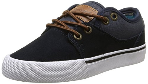 GlobeMahalo-Kids - Scarpe da Skateboard Bambino , Blu (Bleu (Navy/Plaid)), 35 EU (Taille Fabricant : 3 US)