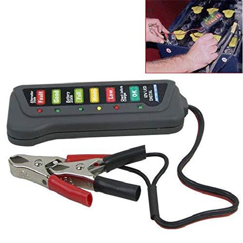 creatspaceDE 12V Batterie Laden Tester Alligator Clip Heavy Duty Auto-LKW-Checker Bestimmen Sie Laden Batteriezustand für Mechanic Farbe: schwarz