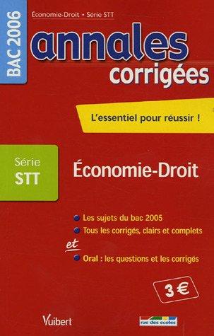 Economie-Droit Bac Série STT
