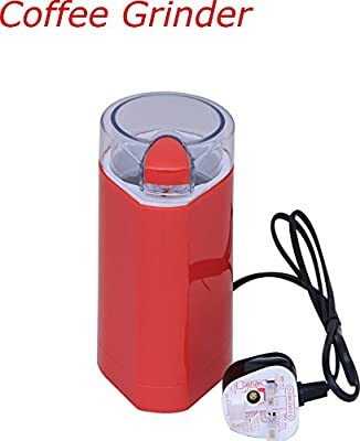 Electric Coffee Grinder Red Mixer Bean & Dry spice Crusher 150W Max New from Denny International