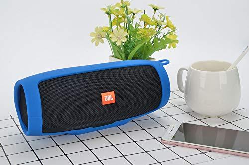 JINRU Wasserdichter tragbarer Bluetooth-Lautsprecher, 12H Playtime für Telefon, Anti-Fall-Silikon,Blue - Fall Telefon Verstärken