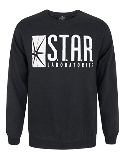DC Comics Herren The Flash STAR Labs Sweatshirt Large Schwarz -