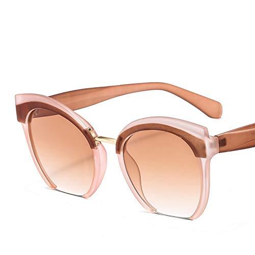 Sonnenbrillen. Trendige Farbige Hälfte Frame Cat Eye Sonnenbrille Frauen Marke Hochwertige Brillen Street Beat Shopping Uv400 Outdoor Reisen Sommer Staub Uv400