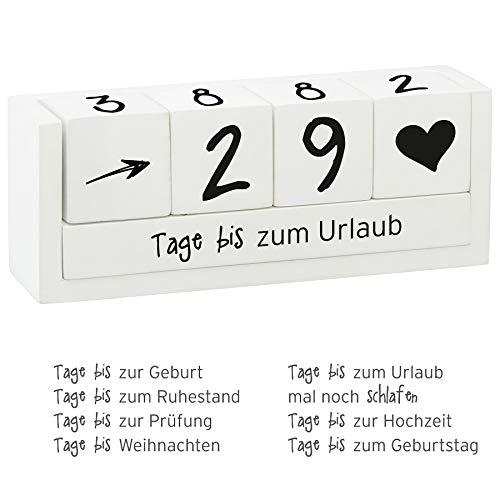 Preis am Stiel Countdown ''Würfel'' aus Holz | Themenleiste | Geschenkidee für Freunde | Holz Kalender | Würfelkalender | Dauerkalender | Jahreskalender | Tischkalender