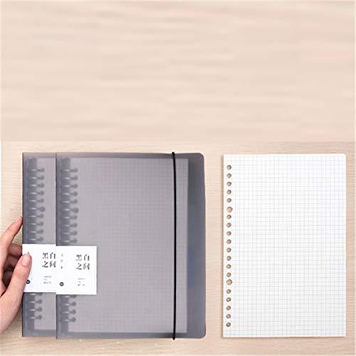 Loseblattbuch Herausnehmbares Notizbuch Tagebuch A4 Notizblock Falsches Buch Austauschbarer Kern 275X215MM(Quadrat)