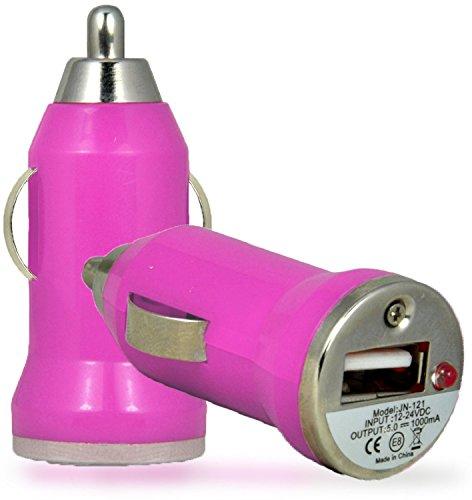Preisvergleich Produktbild C63 ®-Sony Xperia E4 Universal-USB-Kfz-Ladegerät,  Pink