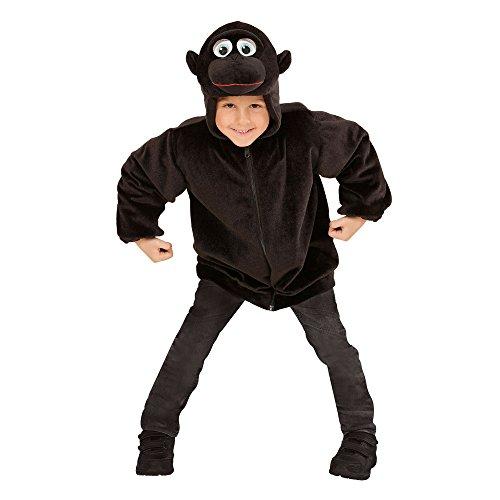 Widmann 97484 - Kinderkostüm Gorilla aus Plüsch, Jacke mit Kapuze und Maske (Maske Gorilla Kopf)