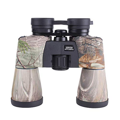 Télescope Jumelles HD 10x50 Fort grossissement Vision nocturne à faible niveau de lumière Adulte Bak4 Pêche, observation des oiseaux, observation des étoiles, concerts, alpinisme, cyclisme, camping, visites touristiques