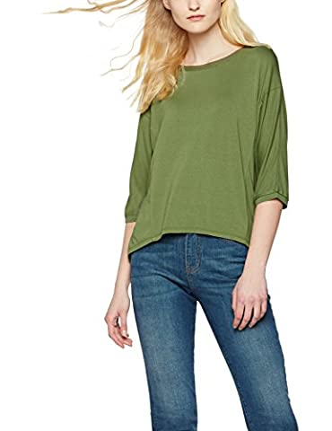 FIND Women's Drawstring Hem Long Sleeve Top, Green (Olive), XX-Large