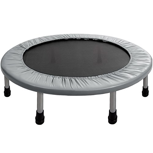 ScSPORTS Fitness Trampolin Indoortrampolin Mini-Trampolin Ø 91 cm, silber