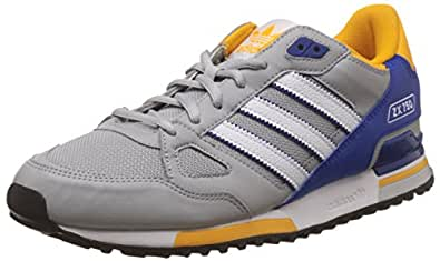 adidas Originals Men's Zx 750 Grey, White and Blue Running Shoes - 9 UK