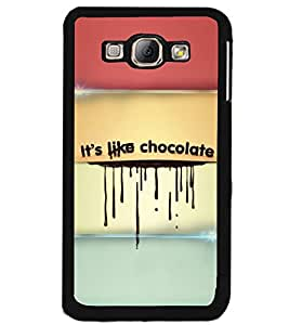 PRINTSWAG CHOCOLATE TEXT Designer Back Cover Case for SAMSAUNG GALAXY A8