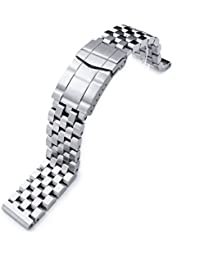 20mm SUPER Engineer Type II Solid Stainless Steel Watch Band, Solid Submariner Clasp
