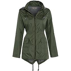 SS7 - Abrigo impermeable - para mujer verde caqui 42
