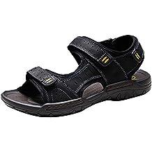 Moollyfox Sandalias de Playa Para Hombre de PU-Cuero Calzado Deportivo