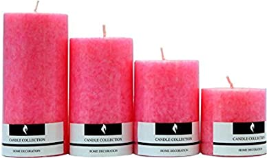 Real Store Scented Candles Set of 4 (Pink)