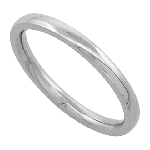 Surgical Steel 2mm Comfort Fit Wedding Band Thumb / Toe Ring High Polish,