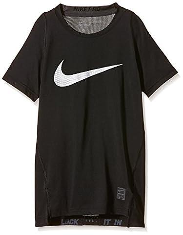 Nike t-shirt de compression à manches courtes pour femme top cool - Noir (Noir/Gris) - XS (122-128 cm - 6-8 ans)