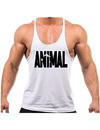 93d2a6e42ea1c0 Volon Tanktop Herren Fitness Unterhemd Tankshirt Animal Tops Sport Shirt  Trägershirt Sommer Männer Bodybuilding Oberteile Tank
