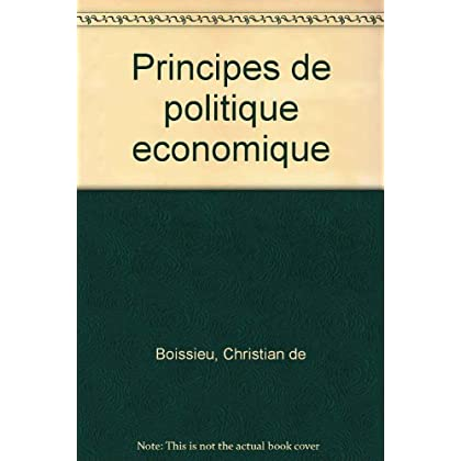 Principes de politique économique