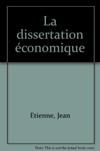 La Dissertation économique, 2e édition