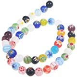 Beautiful Bead 8mm Assorted Colors Glass Beads For Bracelets Or Necklaces(About 48pcs)
