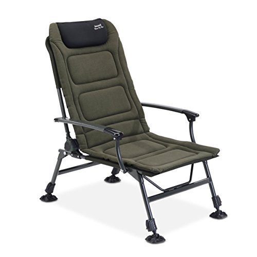 Anaconda Nighthawk Chair   mit eingebautem Schlafsack für die Beine   Sitzfläche 50 x 54 cm   belastbar bis 165 kg