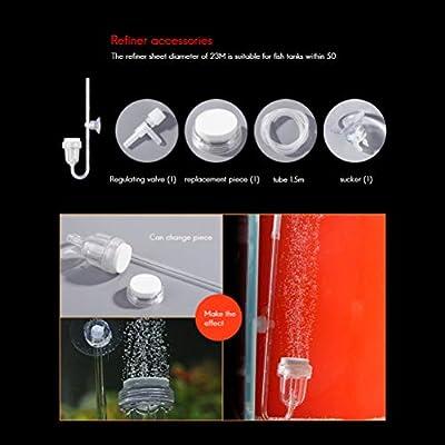 Comtervi Aquarium Luftpumpe, Aquarium Bubbler, Ofen Rauchrunde Luftstein Diskettensatz für Hydrokultur, kleine Blasen, ultrahochgelöster Sauerstoffdiffusor