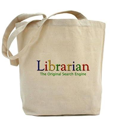 CafePress–Bibliotecario–Gamuza de bolsa de lona bolsa, bolsa de la compra