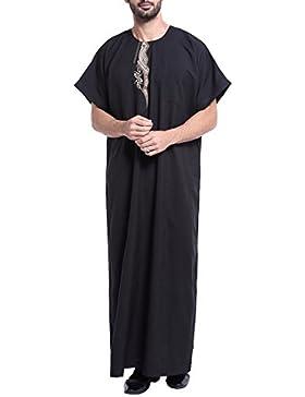 Gnaixeh Rundhalsausschnitt Der Männer Kurzarm Saudi-Arabische Thobe Islamische Muslimische Dubai-Robe
