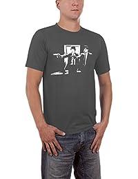 Touchlines Men's Laurel and Hardy Fiction Slimfit T-Shirt