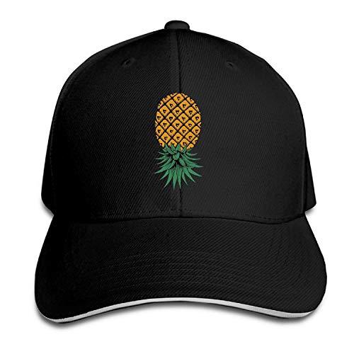 Upside Down Pineapple Snapbacks Caps Style Sandwich Cap Hat (Upside-down-bier)