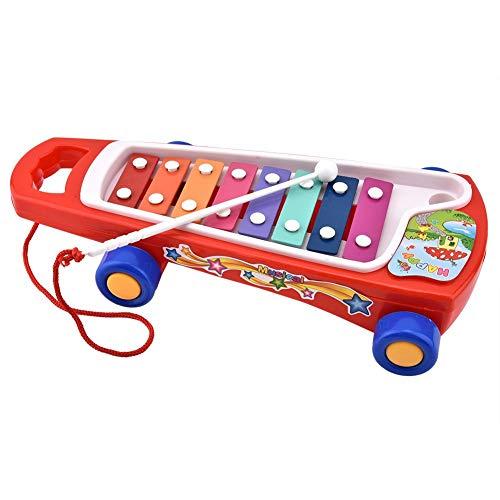 Giocattolo per pianoforte 8-note tastiera musicale a mano strumento di apprendimento bambino playset educativo precoce giocattolo sviluppo artistico 2 3 4 5 ragazzi ragazze compleanno natale regali
