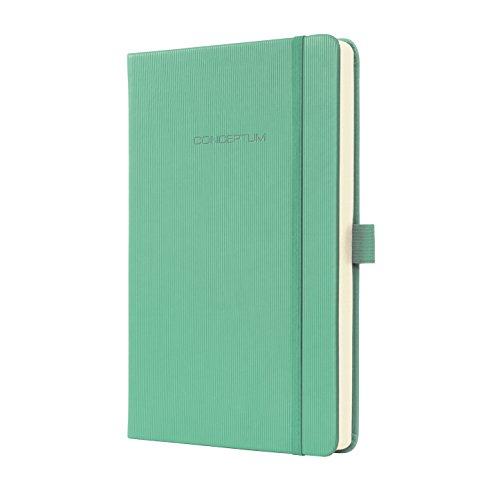 SIGEL CO613 Notizbuch, ca. A5 Hardcover, kariert, grün, Conceptum - viele Modelle