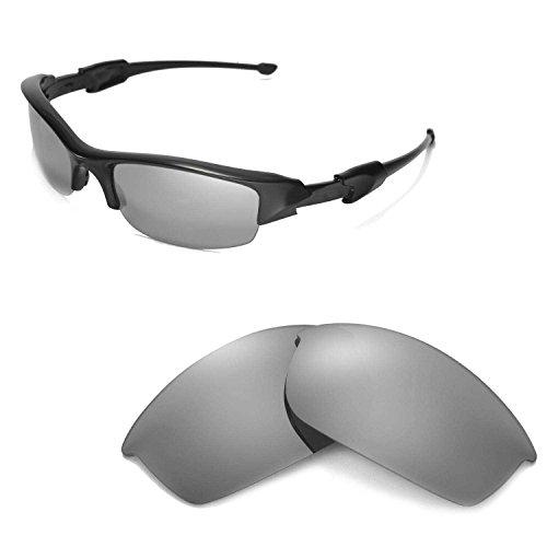 Walleva Ersatzgläser oder Gläser/Gummi Kit für Oakley Flak Jacket Sonnenbrillen - 46 Optionen erhältlich, Titanium Mirror Coated- ISARC Polarized