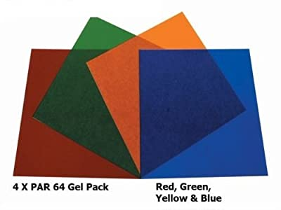 Par 64 / Parcan 64 Gels - 4 x Stage Lighting Filters Colour Gel Pack