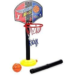 KidsHobby Altura Ajustable Canasta baloncesto infantil para Niños Interior Exterior Juguetes actividades Para Niños y Jóvenes.