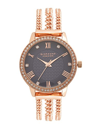 Giordano Analog Brown Dial Women's Watch - A2061-77