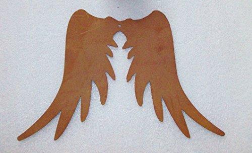 Engelsflügel in Edelrost 15cm zum Aufhängen BH0908