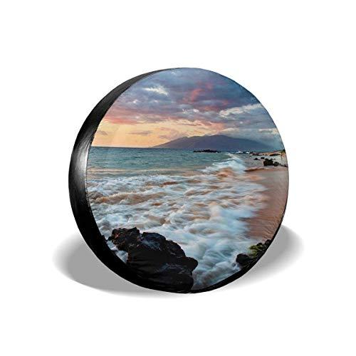 Hawaii Beautiful Sunset Car Accessories Univesal Spare Tire Cover Diameter14 15