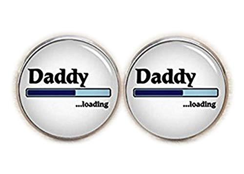 Daddy Boutons de manchette de chargement, Slogan de chargement, Neuf Papa pour être