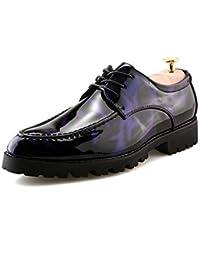 Pelle verniciata Scarpe da uomo da uomo scarpe oxford low-key stampa non  sbiadisce il pizzo moda casual antiscivolo… be2de428c6b