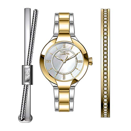 Invicta Angel Reloj de Mujer Cuarzo Correa y Caja de Acero dial Plata 29326