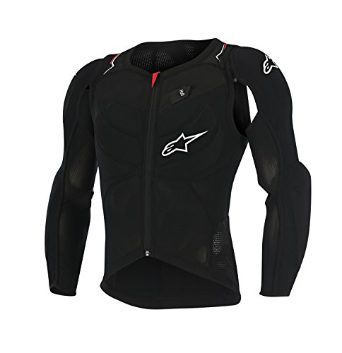 Alpinestars Herren Evolution Long Sleeve Jacket, Herren, schwarz, weiß, rot (Alpinestars Long Sleeve Shirt)