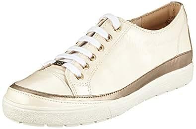 23654, Scarpe Stringate Derby Donna, Bianco (Cream Napl Mud 150), 41 EU Caprice