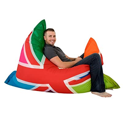 ICON Limited Edition Colourful Union Jack Bazaar Bag® Designer Bean Bags - Indoor/Outdoor London Bean Bags