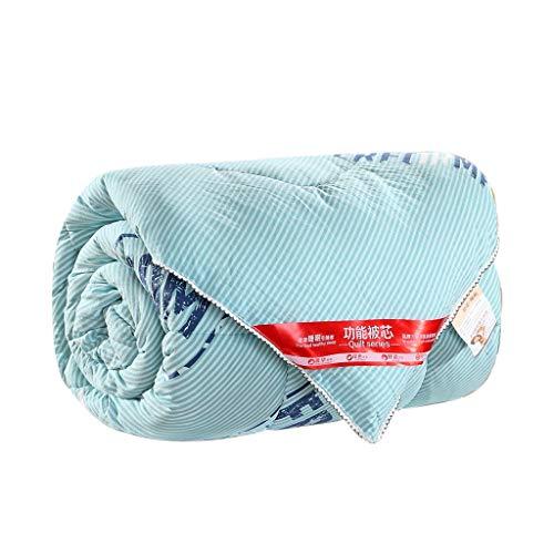 QUILT Gewaschene Baumwollsteppdecke, Aktives Drucken Und Färben, Weiche Hautfreundliche Verdickung Warme Baumwollwinter-Steppdecke 200 * 230cm MENA Uk (Farbe : Blau, größe : 200x230cm(3KG))