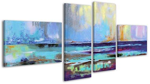 100% LABOR A MANO + certificado / 160x75 cm / Brillo azul / El cuadro dibujado con pinturas acrílicas / cuadros sobre el lienzo con bastidor de madera / cuadro dibujado a mano / montaje cómodo sobre la pared / Arte contemporáneo / dormitorio
